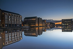 Reflections At Dusk (Follow That Dream Photography) Tags: reflections dusk gloucestershire bluehour d800 waterreflections gloucesterdocks nikond800 reflectionsatdusk mirrorlikereflections followthatdreamphotography mikelodgearps