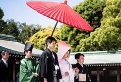 Wait, what, another couple? (kenawy.nl) Tags: life wedding beautiful japan japanese tokyo shrine day marriage together kawaii forever shrines marry meiji meji 2014