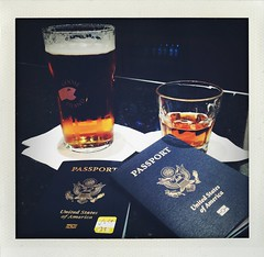 let's do this (mennyj) Tags: travel vacation usa beer bar virginia airport dulles iad europe lounge va passport bourbon markham letsgo 2014 pregaming firstrealtripinover12years