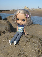 Holly at the beach