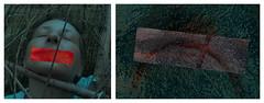 Ingrid Hedbavny on the Procrustes Bed of the Warrior, Mouth Excised ~ Hedbavny, Ingrid auf dem Prokrustesbett des Kriegers, Mund herausgeschnitten (hedbavny) Tags: vienna wien red portrait selfportrait rot art me self mouth ego rouge austria mirror sterreich blood weide diptych outsiderart sleep spiegel kunst web digitalart performance pomegranate portrt censorship blocked zensur warrior schlafen ani rosso weaving selbstportrait merge weber banned mund draft aktion amputation blut krieger schlaf procrustes selbstportrt grenadine diptychon entwurf weidenhaus skizze steinhofgrnde scetch textur friedemann steinhof adom granatapfel geflecht ohnmacht excised amputiert aktionismus spiegelgrund ohnmchtig weidengeflecht prokrustesbett prokrustes procrustesbed teppichweber hedbavny ingridhedbavny herausgeschnitten