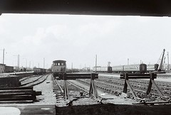 Railyards (Dundee City Archives) Tags: old olddundeephotos dundee photos railway railyards railwaysidings railways steam locomotive carriages passenger buffers rail line train north british sidings south yard tesco