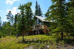 Cabin in the Woods (retrophiliac) Tags: trees vacation canada tree green home beautiful clouds forest cozy cabin woods columbia greenery british lush accomidations