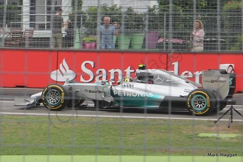 Lewis Hamilton in the 2014 German Grand Prix