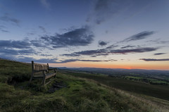 A hill, a bench and some thoughts (Malajusted1) Tags: sunset england wolf hill lancashire fells beacon fell craven barnoldswick pendle parlick bowland weets