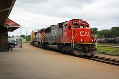 CN 5464 East, CN 382 (Joseph Bishop) Tags: railroad cn train track tracks rail railway trains rails railfan brantford emd sd60 5464