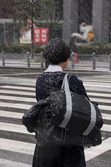 / High School Girl (kimtetsu) Tags: snow girl japan   osaka   winter