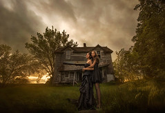 The Pact ({jessica drossin}) Tags: trees girls light sunset portrait house abandoned girl field grass clouds rural photography photo women natural decay farm ominous ghost country teens eerie haunted textures actions overlays jessicadrossin wwwjessicadrossincom jdbeautifulworldcollection