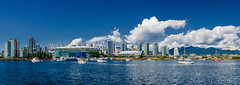About Two Years Ago (Martin Smith - Having the Time of my Life) Tags: panorama sailboat downtown pano bluesky falsecreek highrises bcplace harbourcentre downtownvancouver northshoremountains downtownview fluffyclouds martinsmith rogersarena nikon18200mmvrii nikond7000 martinsmith