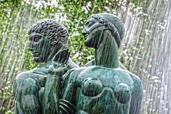 Wisdom & Felicity (E Rabeck) Tags: nyc sculpture art public fountain bronze brooklyn parkslope bailey prospectheights wisdom felicity municipal grandarmyplaza eugenesavage