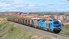 Cada vez ms desaparecido (Trenes2000) Tags: tren trenes european bulls vilar doble sagunto 335 formoso siderurgico comsa 335002 tramesa 335001 trenes2000