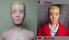 Ken (Straight leg 1964-68) My new guy! (doll4life14) Tags: vintage ken barbie retro repair restoration mattel repaint