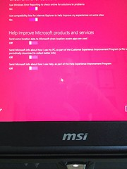 Windows 8 is really eager to share your personal stuff with Microsoft. (Sweet One) Tags: newcomputer msi windows8