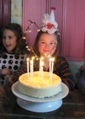 Happy birthday (Heart felt) Tags: birthday party cake parties sadie greytown partyhats sevenyearsold turning7 cuckoocafe