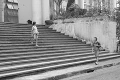 Encounter (elevatedniko) Tags: street urban blackandwhite up lines stairs walking university streetphotography meeting stairway fate destiny intersection diliman encounter rendezvous updiliman urbanphotography boymeetsgirl universitygrounds upmainlibrary univesityofthephilippines upgonzalezhall