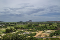 View from Samanar Malai (Freeze the moments!) Tags: old trees people mountain green nature statue temple madurai pillayar samanarmalai nagamalai vasanthjune keelakuyilkudi