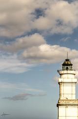 Goi Lurretan (PiTiS ¬~) Tags: sky lighthouse clouds faro sardinia torre minimal cielo nubes minimalism minimalismo minimalist cerdeña minimalista zerua lainoak