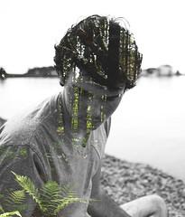 Innerself   Double Exposure (brycewichman) Tags: portrait blackandwhite white lake black color nature forest nikon doubleexposure north double explore teen mn lakesuperior edit d600 nikond600 gogetlost liveauthentic lostonland