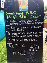 Sampling the sous-vide meat feast from @TheBeachBBQ at @StreetDiner.