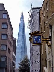 St.Mary at Hill (stevewilcox32) Tags: city uk england urban london clock architecture skyscraper shard clockface stmaryathill stmaryathillchurch