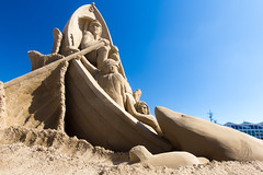 """We're gonna need a bigger boat"" (Kevin Baird) Tags: justin sculpture shark boat sand sandiego kate attack lucas sandsculptures"