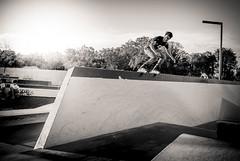 _DSC5894 (Christian Rudelle) Tags: nikon lyon noiretblanc skatepark roller rollerblade 2870f28 d700 parcblandan