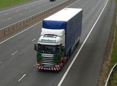 H6827 - PO14 VDM (Cammies Transport Photography) Tags: alexis truck tesco lorry eddie supermarkets flyover scania esl rhiannon m74 lockerbie stobart r440 po14vdm h6827