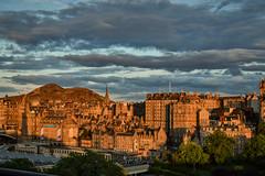 Golden Old Town (Colin Myers Photography) Tags: street old sunset sun wheel set golden scotland town warm edinburgh scottish hour princes oldtown goldenhour edinburghsunset scottishsunset scotlandsunset edinburgholdtown