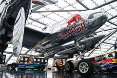 Hangar-7 (Neuwieser) Tags: red salzburg museum aircraft f1 bull oldtimer lightning lockheed flugzeug formula1 redbull flugplatz warbird flyingbulls formel1 hangar7 p38 p38l