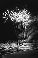 Fireworks (Caballerophotos) Tags: sea españa beach night noche mar spain fireworks playa ibiza fuegosartificiales