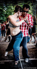 Liz Hutchinson and Lucas Valsecchi at Brussels Kiosque milonga, Aug 2014