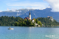 Bled, Slovenia - Lake Bled, Bled Island, and Bled Castle (GlobeTrotter 2000) Tags: park travel mountain lake alps castle tourism landscape island boat town fisherman julian europe visit slovenia alpine national bled bohinj triglav