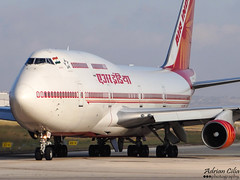 Air India --- Boeing 747-400 --- VT-ESP (Drinu C) Tags: plane aircraft sony boeing dsc 747 airindia mla lmml vtesp hx100v adrianciliaphotography