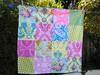 Yellow & Pink Floral (sewfunbymonique) Tags: patchwork circa beautyqueen flowerpower luckygirl jenniferpaganelli sewfunbymonique