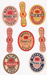 Watney's Beer Bottle Labels 1930s? (Peter Berthoud) Tags: beer bottle label watneys stag brewery london victoria pimlico stout 1930s