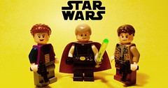 Heroes of the Rebellion (Supremedalekdunn) Tags: lego star wars beyond return jedi luke skywalker princess leia organa han solo new republic galactic empire