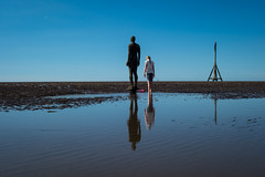 Side by Side (tabulator_1) Tags: antonygormley anotherplace ironmen crosbybeach crosby bluesky standing