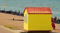 Lives being saved in Whitstable .. (davidheath01) Tags: sky house roof lifeguard digital dslr nikond5100 nikon weather samd seaside whitstable sun water colour color red sea