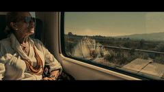 Malaga to Sevilla, Spain (emrecift) Tags: candid portrait street photography train sevilla andalucia spain cinematic 2391 anamorphic sony a7 alpha canon new fd 24mm f28 legacy lens emrecift