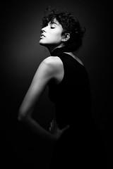 ... (Artem Vasilenko) Tags: monochrome studiolight artemvasilenko spot light girl contrast 85mm canon aplaceforportraits portrait dark