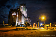 Ghostly Walker:-o (Louis Alexander Smith) Tags: nikon nikond700 nikon2470f28 anglicancathedral liverpool night longexposure explore explored