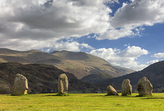 Castlerigg Stone Circle, Keswick, Lake District (MelvinNicholsonPhotography) Tags: castlerigg castleriggstonecircle keswick lakedistrict cumbria stonecircle rocks stones mountains helvellyn grass blueskies clouds whiteclouds fells
