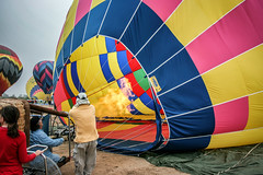 Hot Air Balloon (Photos By Clark) Tags: california cities editforweb locale location northamerica photoclubmonthlyoutings places printed temeculaballoonandwinefest unitedstates where balloon hot prep launch fire gas wait early morning colors
