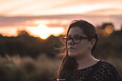 my gf (HugoSilvaDesigns) Tags: girl portrait sunset clouds dof depthoffield bokeh sun light flare canon 60d