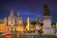 The city at night (Francesco Grisolia) Tags: thecityatnight lacittdinotte luci lights roma rome notripod capitale italia italy campomarzio nikon city citt