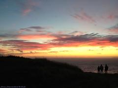 Contemplating on our beautiful planet of Cherbourg (Chris Coeur) Tags: mer sea mar manche ciel sky cielo nuages clouds nube coucherdesoleil sunset puestadelsol silhouettes siluetas