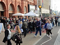 A Busy Late October Day on the Prom! (deltrems) Tags: blackpool lancashire fylde coast promenade towe people crowds men women