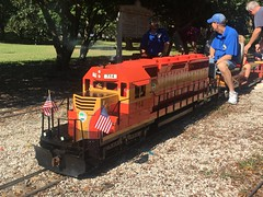 Largo Central Railroad celebrates 25 years (st_asaph) Tags: largocentralpark pinellas largo emd sd402 fec714 floridaeastcoast miniaturerailway largocentralrailroad