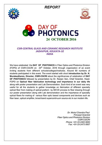 Poster celebration of-day of photonics CSIR-CGCRI-INDIA