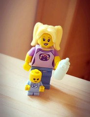 Probably the cutest lego piece I've seen  (Princess Stitch) Tags: lego legominifigures series16 babysitter